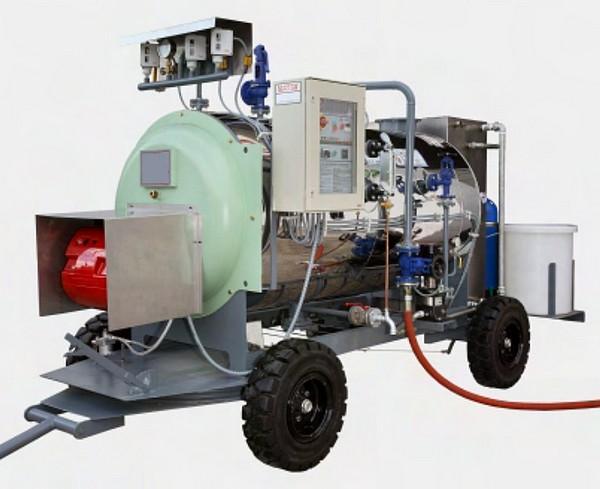 Chaudière vapeur FUEL/GASOIL mobile