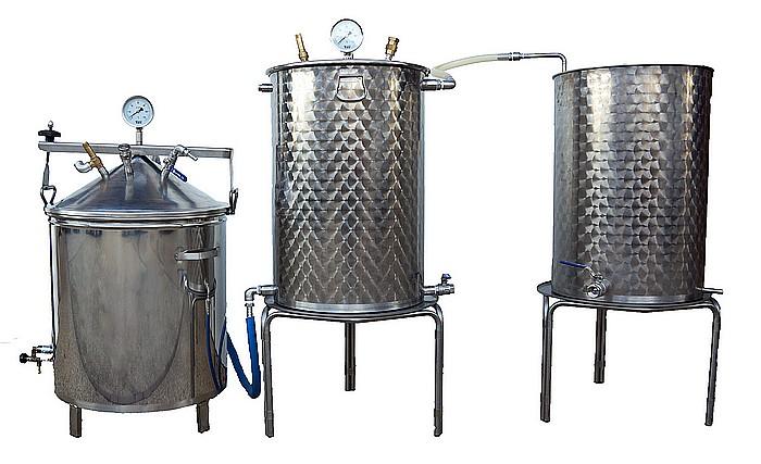 ALAMBIC GAZ SPBG - 25 à 500 litres - 3 méthodes