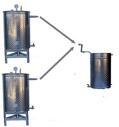 SPB - 2 x CUVES - 150 à 500 litres