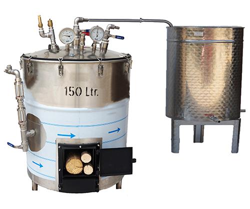Bouilleur vapeur BOIS - INOX réfractaire