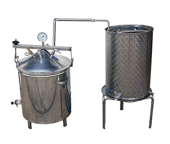 DISTILLATEUR GAZ SPRG - 35 à 90 litres - Hydro-distillation - 2 méthodes