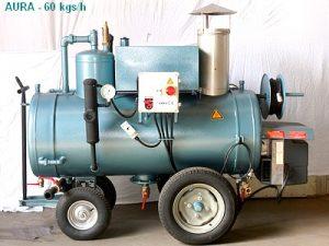 4ème solution : Chaudière vapeur alimentée en fuel/gasoil ou HUILE VÉGÉTALE + Alambic