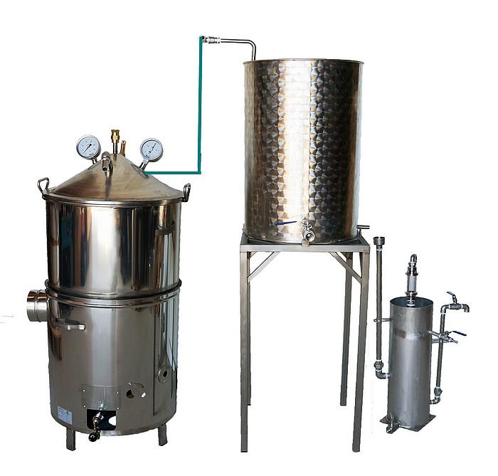DISTILLATEUR GAZ SPRG - 200 à 500 litres - Hydro-distillation - 2 méthodes