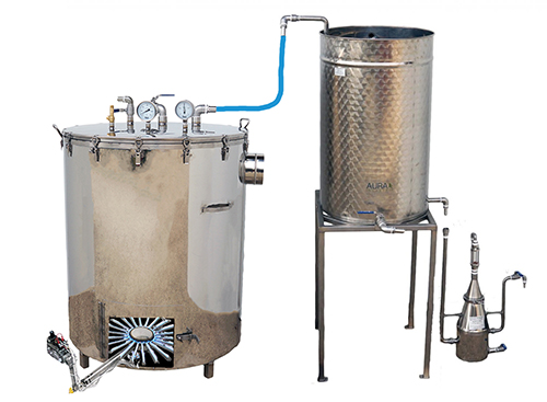 DISTILLATEUR GAZ SPRG - 300 à 500 litres - Hydro-distillation - 2 méthodes