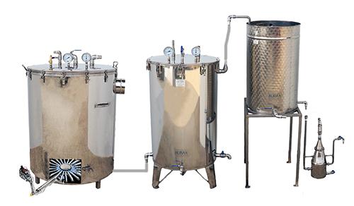 DISTILLATEURS GAZ - 300 à 500 litres