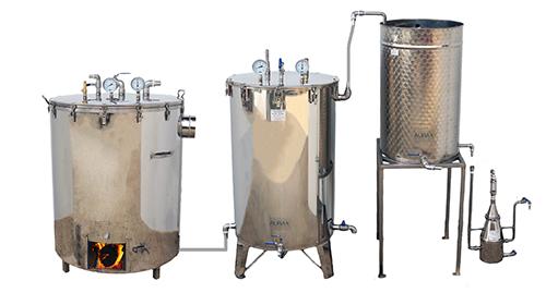 DISTILLATEURS BOIS/GAZ - 50 à 1000 litres