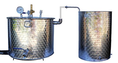 DISTILLATEUR GAZ SPRB 200 litres 2 méthodes
